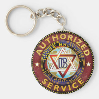 Dodge Brothers Basic Round Button Key Ring