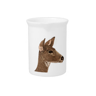Doe Female Deer Pitcher