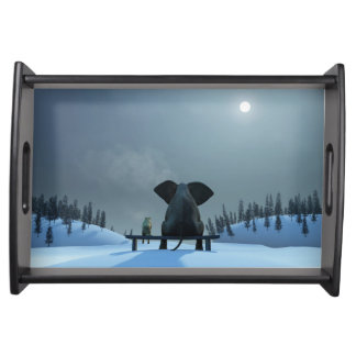Dog and Elephantg Friends Serving Tray