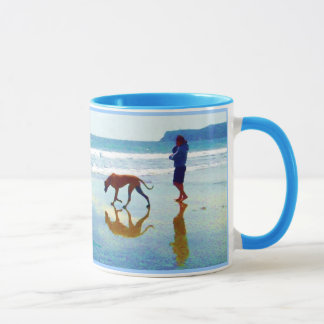 "dog beach - ""To see a world in a Grain of Sand... Mug"