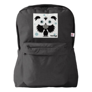 Dog(Black) Backpack, Black Backpack