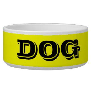 Dog Bowl by Janz Large Yellow