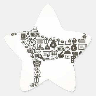 Dog business star sticker