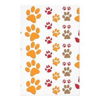 Dog & Cat Paw prints Design ~ editable background Stationery