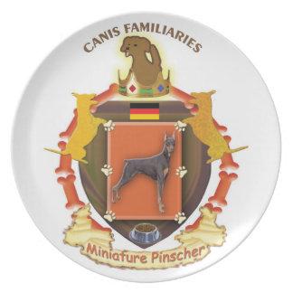 Dog Coat of Arms Plate - Miniature Pinscher