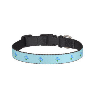 Dog collar of morning glory pattern