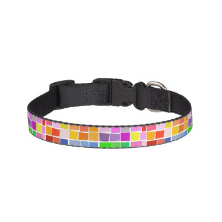Dog collar with stylish mosaic pattern