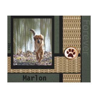 Dog Customizable Photo Grey & Bold Canvas Print