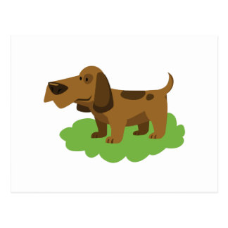 dog cute cartoon design postcard