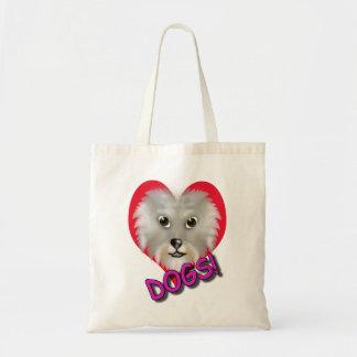 dog fan heart bag