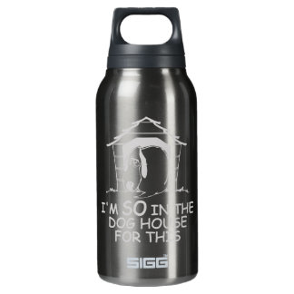 DOG HOUSE - choose color Insulated Water Bottle
