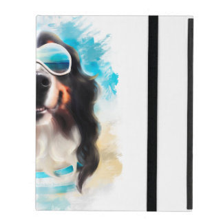 Dog in sunglasses cover for iPad