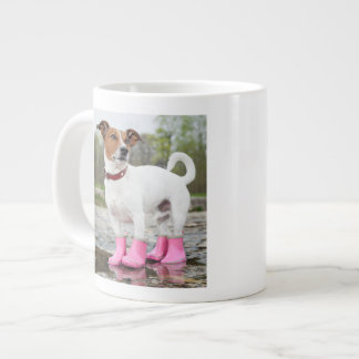 Dog In The Rain Giant Coffee Mug