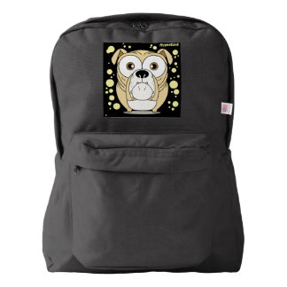 Dog(Light Brown) Backpack, Black Backpack