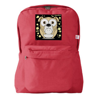 Dog(Light Brown) Backpack, Red Backpack