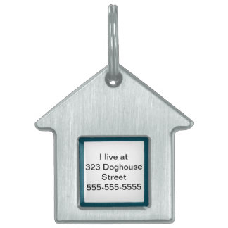Dog location info on doghouse pet tags