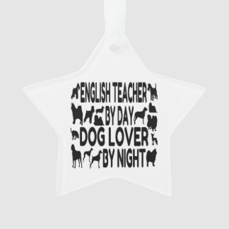 Dog Lover English Teacher Ornament