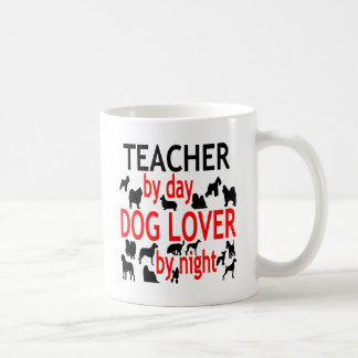 Dog Lover Teacher in Red Coffee Mug