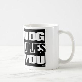 DOG LOVES YOU BASIC WHITE MUG