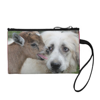 Dog meets Goat Coin Clutch Change Purses