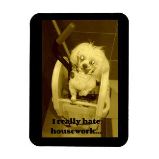 Dog Mop Bucket Rectangular Photo Magnet