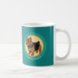 Dog norwich terrier basic white mug