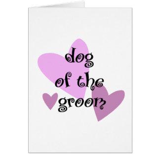 Dog of the Groom Card