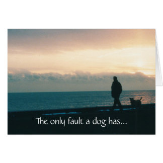 Dog On The Beach Sympathy Card