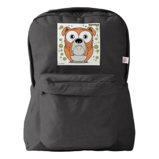 Dog(Orange) Backpack, Black Backpack