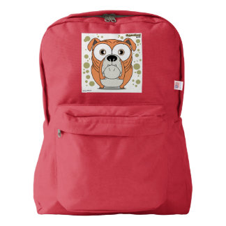 Dog (Orange) Backpack, Red Backpack
