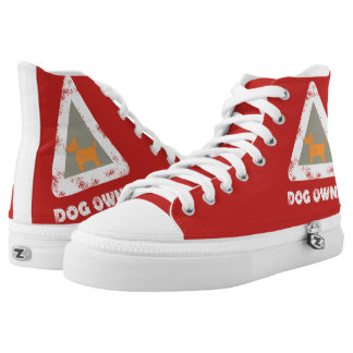 Dog Owner Funky High Top Shoes Printed Shoes