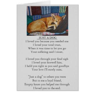 dog pet sympathy poem original memorial message card