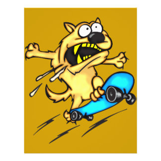Dog Riding Skateboard Flyer