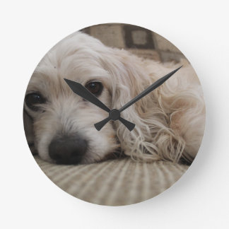 Dog shirt round clock