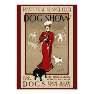 Dog Show 13 Cm X 18 Cm Invitation Card
