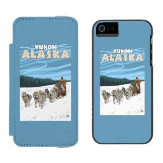 Dog Sledding Scene - Yukon, Alaska Incipio Watson™ iPhone 5 Wallet Case