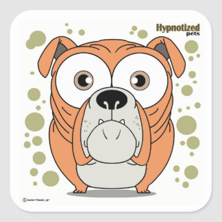Dog Square Stickers, Glossy Square Sticker