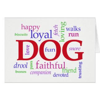 Dog Sympathy Card — In Loving Memory