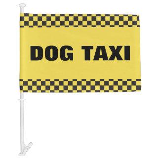 Dog Taxi Car Flag