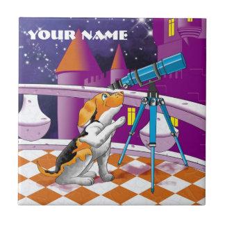 dog telescope tile