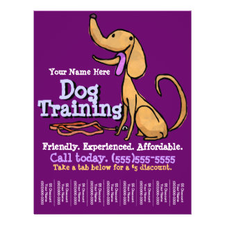 Dog Training. Custom Promotional Flyer
