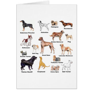 Dog Types Card