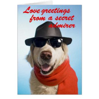 Dog Valentine Secret Admirer Greeting Card Jitka