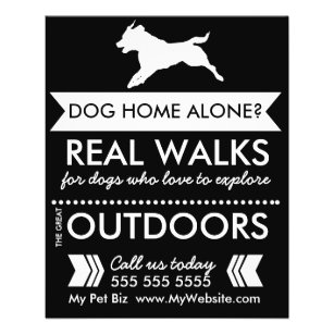 dog walker flyer personalizable
