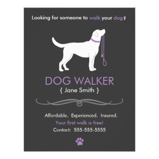 Dog Walker Walking Business Flyer Template