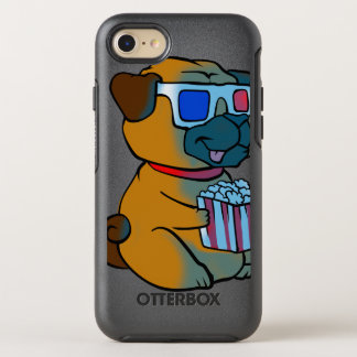 Dog watching 3d movie OtterBox symmetry iPhone 8/7 case