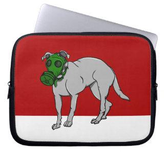 Dog Wearing A Gas Mask Laptop Sleeves