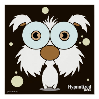 """Dog White 20"""" x 20"""", Poster Paper (Semi-Gloss)"""