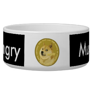 Doge Dog Bowl. Much Hungry. Pet Food Bowl