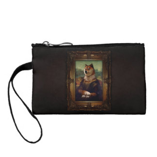 Doge Mona Lisa Fine Art Shibe Meme Painting Coin Purse